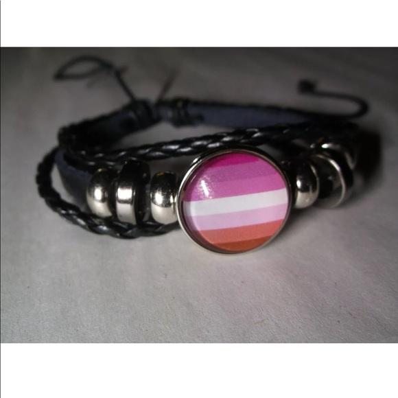 PRIDE Flag Crystal Copper Necklace Bracelet